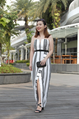 pinstripe MDS Collections dress