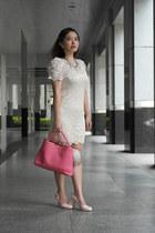 lace Kitschen dress - hot pink JuzzBag bag - heels JellyBunny pumps