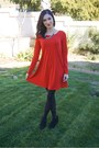 Black-target-boots-red-express-dress-j-crew-necklace