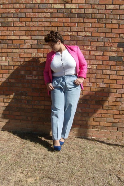 blazer - shirt - pants - heels