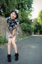 Zara boots - Topshop dress - postlapsaria scarf