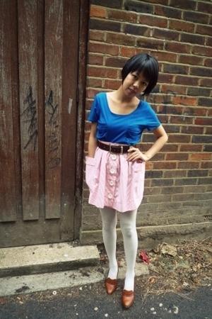 Topshop top - asos skirt - vintage belt - vintage shoes