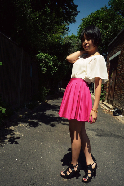 Topshop skirt - Primark top - Zara shoes