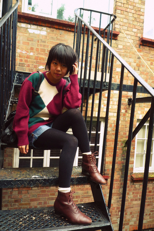 vintage sweater - vintage shoes