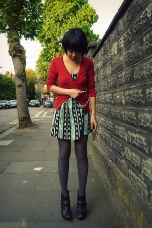 H&M sweater - Primark dress - Dorothy Perkins tights - Topshop shoes