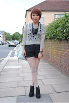 gray Topshop jumper