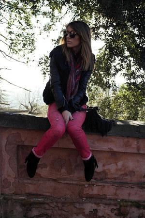 suede cinti boots - suede Elisabetta franchi Celynb bag