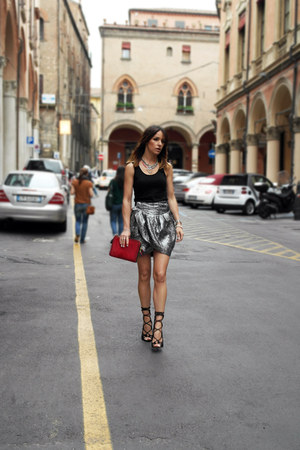 silk H&M skirt - suede Windsor Smith heels