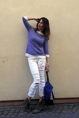 Golden Goose boots - Relish jeans - Patrizia Pepe sweater - leather Celine bag