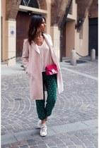leather adidas stan smith sneakers - wool Zara coat - leather fur Furla bag