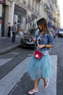 Denim-jacket-pikno-jacket-tulle-carla-g-skirt-leather-bepositive-sneakers