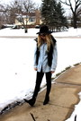 Black-cheap-monday-boots-zara-vest