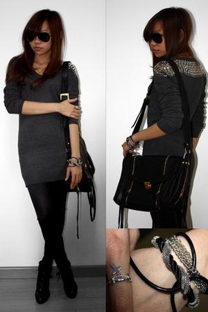 black H&M leggings - gray Topshop blouse