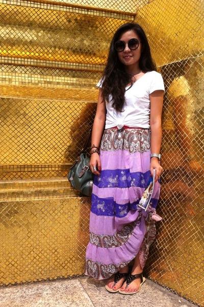 amethyst thrifted maxi skirt