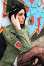 Coach-hat-roxy-jacket-urban-outfitters-shorts-urban-outfitters-stockings-
