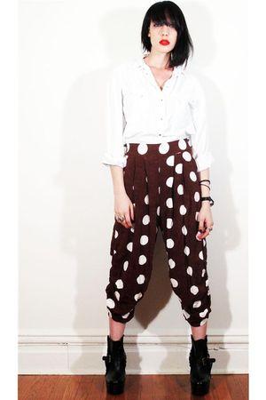 twice lux vintage leggings - twice lux vintage blouse - twice lux vintage blouse