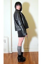 patchwork leather jacket jacket - Maurie & Eve shoes