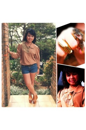 top - kashieca shorts - Primadonna wedges - Girl Shoppe ring