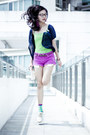 Off-white-lace-ups-cotton-on-shoes-magenta-cutoff-denim-forever-21-shorts