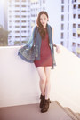 Black-tassel-steve-madden-boots-maroon-bodycon-cotton-on-dress