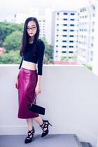 black sequin Chomel purse - black straps Sidewalk heels