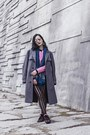 Heather-gray-menswear-vintage-coat-bubble-gum-leather-viparo-jacket