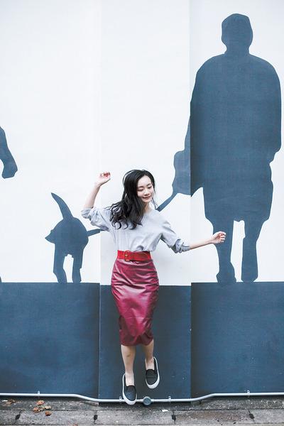 maroon leatherette CNdirect skirt