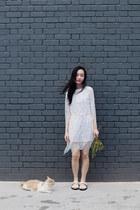 white lace DressLink romper - black cutout DressLink bra