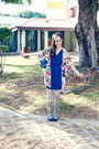 Blue-floral-dresslink-dress-periwinkle-printed-urban-outfitters-tights