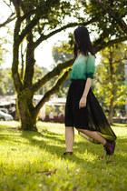green ombre romwe blouse - crimson mcq x puma Alexander McQueen sneakers