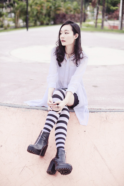 black striped We Love Colors stockings