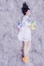 White-mesh-insert-kaehana-dress-yellow-rubber-converse-sneakers
