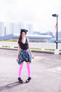 Cat-ear-dresslink-hat-floral-newdress-jacket-neon-we-love-colors-stockings