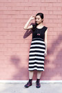 Black-black-and-white-flesh-imp-dress-black-black-crew-taobao-socks