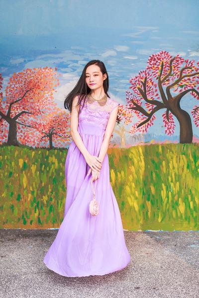 pink rose 3D Bag Original bag - light purple lace CNdirect dress