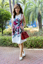 white chocohips boutique dress - red Louis Vuitton bag
