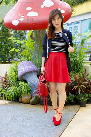 red 31 Phillip Lim bag - black Stradivarius blazer - black Zara top