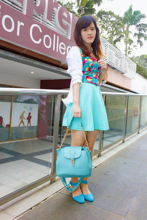 aquamarine bonniebell shop bag - aquamarine keep it chic skirt
