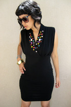 black vintage dress