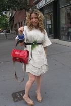 beige PROENZA SCHOULER dress - beige Christian Louboutin shoes - black lanvin be