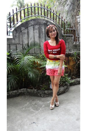 Chels Shortzshoppe shorts - Ohrelle heels - Braccialetto Filipina accessories