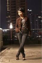 forever 21 jacket - unbranded t-shirt - H&M pants - unbranded shoes
