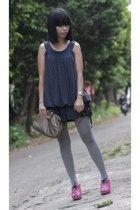 Uniqlo dress - H&M tights - Funist shoes