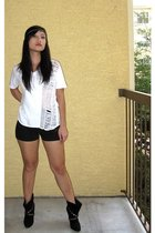 Hanes shirt - Urban Outfitters shorts - Steven by SM shoes - Target accessories