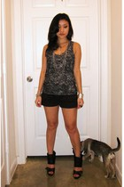 f21 top - Express shorts - Steve Madden shoes - f21 necklace