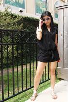 f21 suit - Bebe shoes - f21 glasses - H&M bracelet