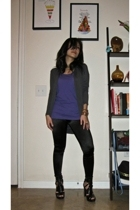 LnA top - f21 sweater - Express leggings