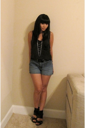 Bebe top - Old Navy shorts - f21 necklace