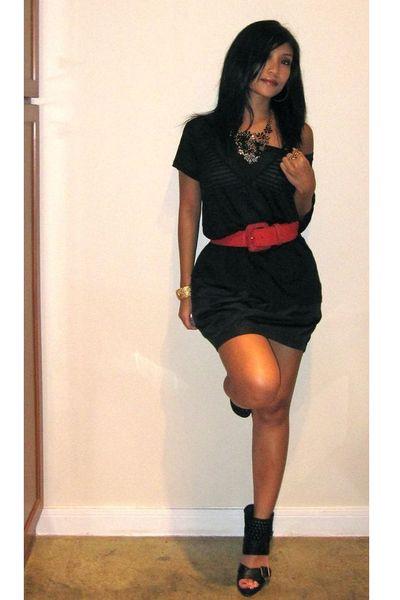 Express shirt - American Apparel skirt - Steve Madden shoes - f21 necklace - vin