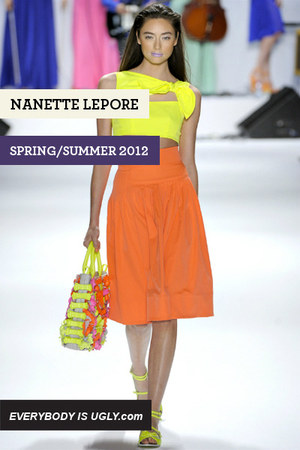 Yellow-nanette-lepore-top-orange-nanette-lepore-skirt